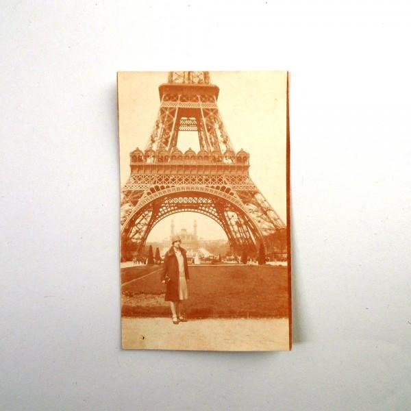 Photo ancienne Paris Tour Eiffel 1928 - Suviens Toi De Paris