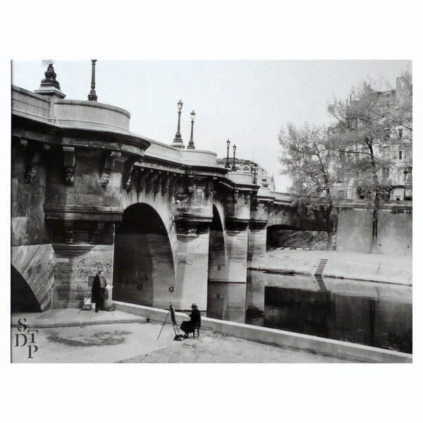 Photo ancienne Pont Neuf offset Souviens Toi De Paris