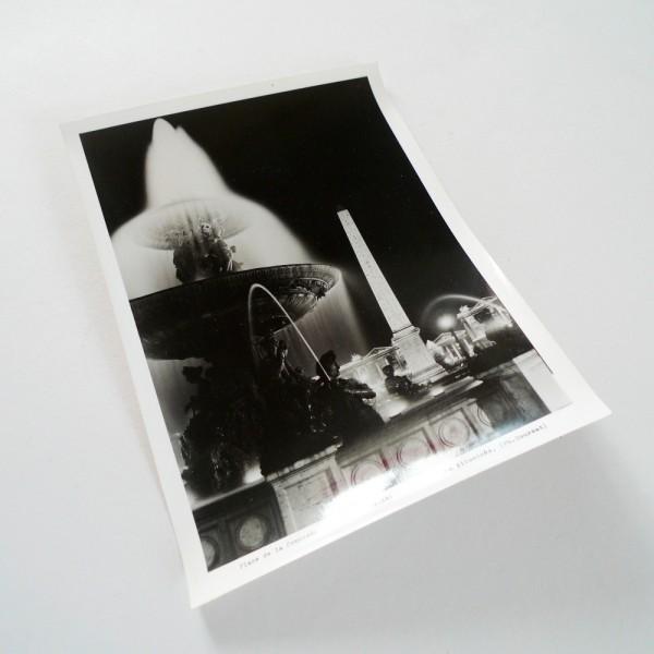 La Concorde illuminée Circa 1950 - Souviens Toi De Paris vue 2