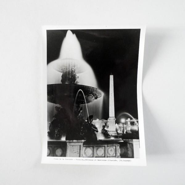 La Concorde illuminée Circa 1950 - Souviens Toi De Paris vue 4