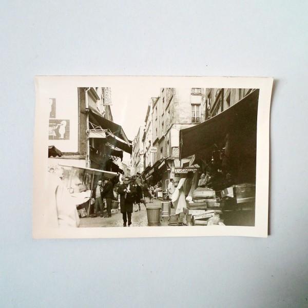 Photo vintage Paris rue Mouffetard 1960 Souviens Toi De Paris