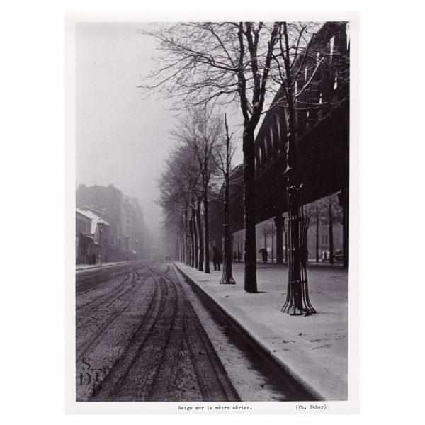 Neige sur le métro aérien Circa 1950 - STDP 1108-1 vue 0