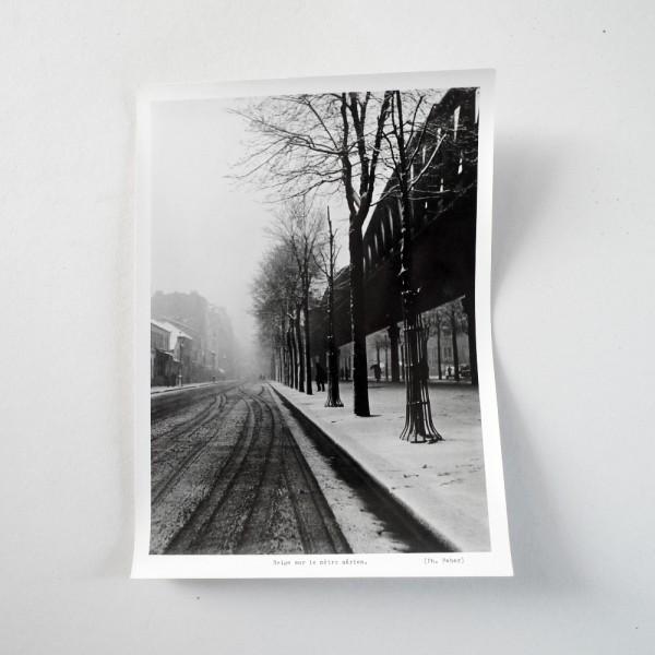 Neige sur le métro aérien Circa 1950 - Emeric FEHER