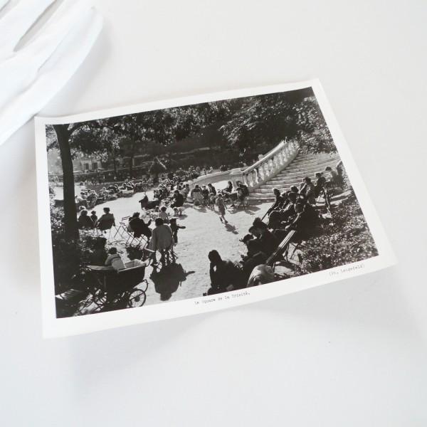 Photo vintage Paris Square Trinité 1950 STDP
