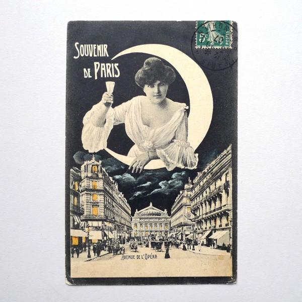 CPA souvenir de l'Opéra allégorie de la nuit 1907 - STDP vue 1