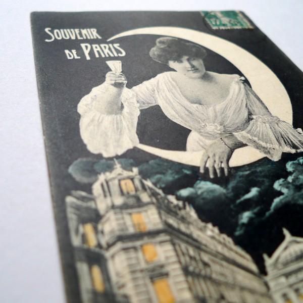 CPA souvenir de l'Opéra allégorie de la nuit 1907 - STDP vue 3