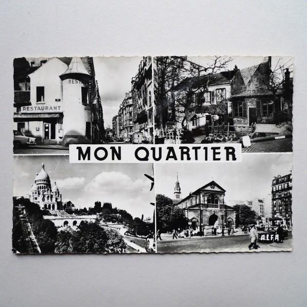 CPSM Mon Quartier Paris 18ème multivues Alfa 1961 - STDP 1054 vue 2