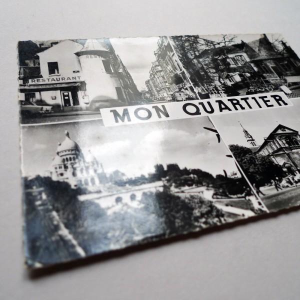 CPSM Mon Quartier Paris 18ème multivues Alfa 1961 - STDP 1054 vue 3