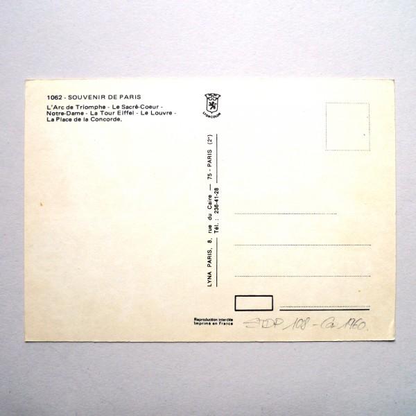 CPSM Paris en capitales, Lyna - Ca 1960 STDP 108 vue 4