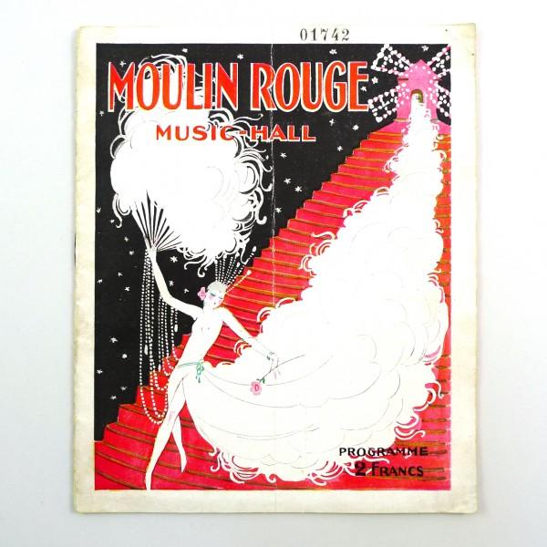 Programme ancien Moulin Rouge Hoffman Girls - 1924 STDP 1094 vue 2