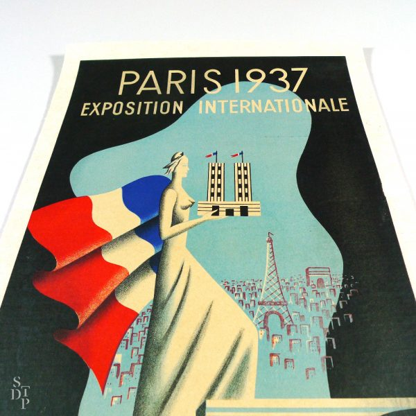 Affiche Paris Exposition Internationale 1937 Villemot Buissoud vue 4 STDP