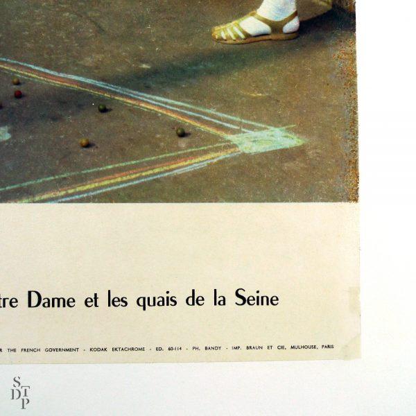Affiche Paris par I. Bandy - Circa 1960 vue 3 STDP 934