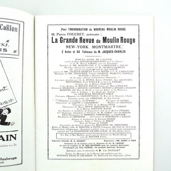 Programme Moulin Rouge, E. Halouze - Circa 1925 STDP 984 vue 5