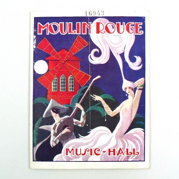 Programme Moulin Rouge, E. Halouze - Circa 1925 STDP 984 vue 1