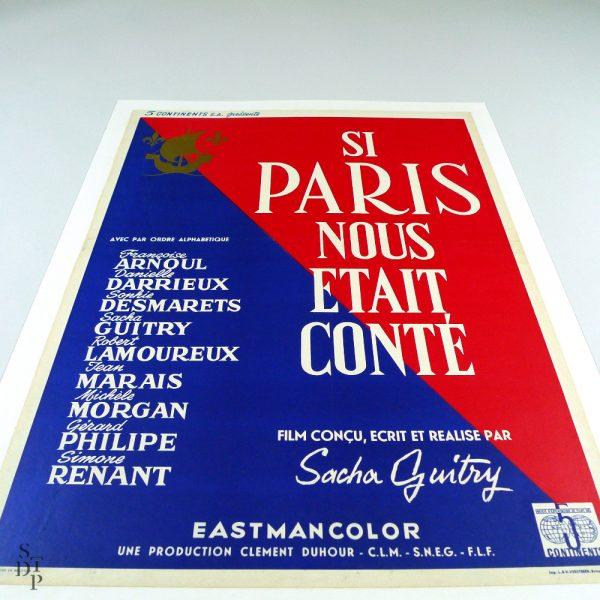 Si Paris nous état conté S. Guitry Affiche 1955 Souviens Toi De Paris 871 vue 2