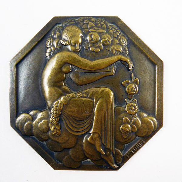 Médaille de l'Expo des Arts Décoratifs, P. Turin Paris 1925 - STDP 1092 vue 1A