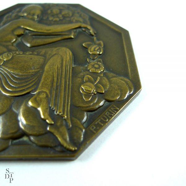 Médaille de l'Expo des Arts Décoratifs, P. Turin Paris 1925 - STDP 1092 vue 2