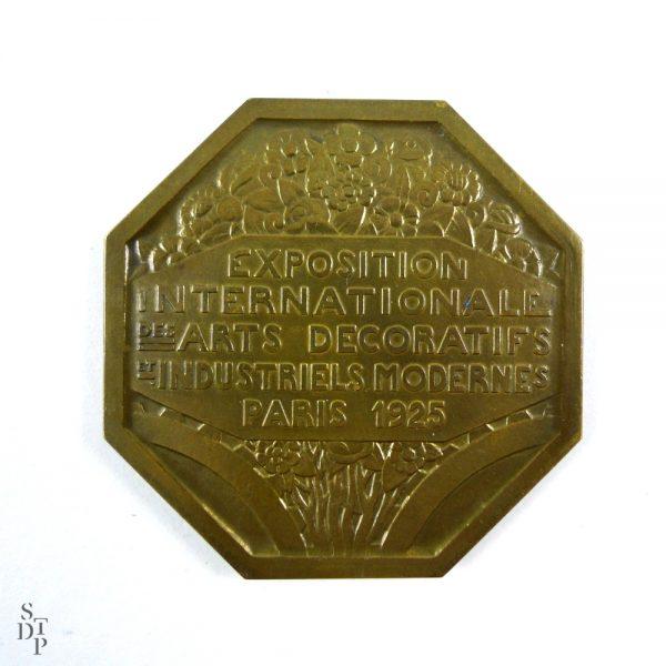 Médaille de l'Expo des Arts Décoratifs, P. Turin Paris 1925 - STDP 1092 vue 5