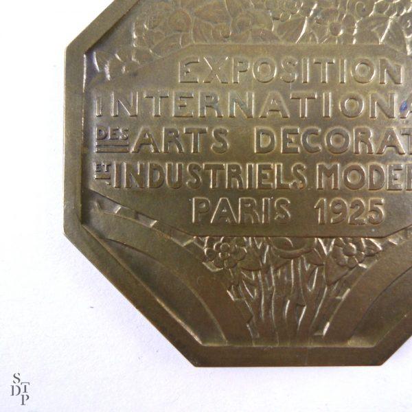 Médaille de l'Expo des Arts Décoratifs, P. Turin Paris 1925 - STDP 1092 vue 6