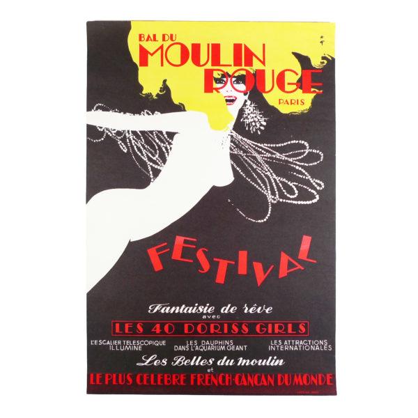 Affiche Moulin Rouge revue Festival Rene Gruau 1973 Souviens Toi De Paris vintage poster vue 0