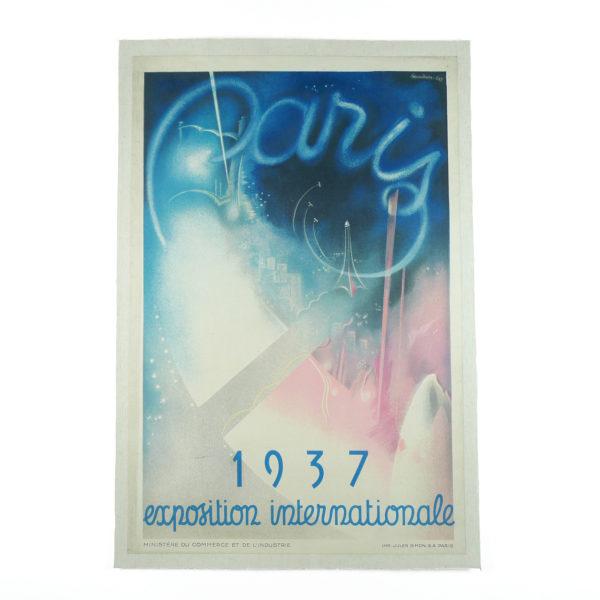 Affiche Paris Exposition Internationale Baudoin Lods 1937 Souviens Toi De Paris vintage poster vue 0