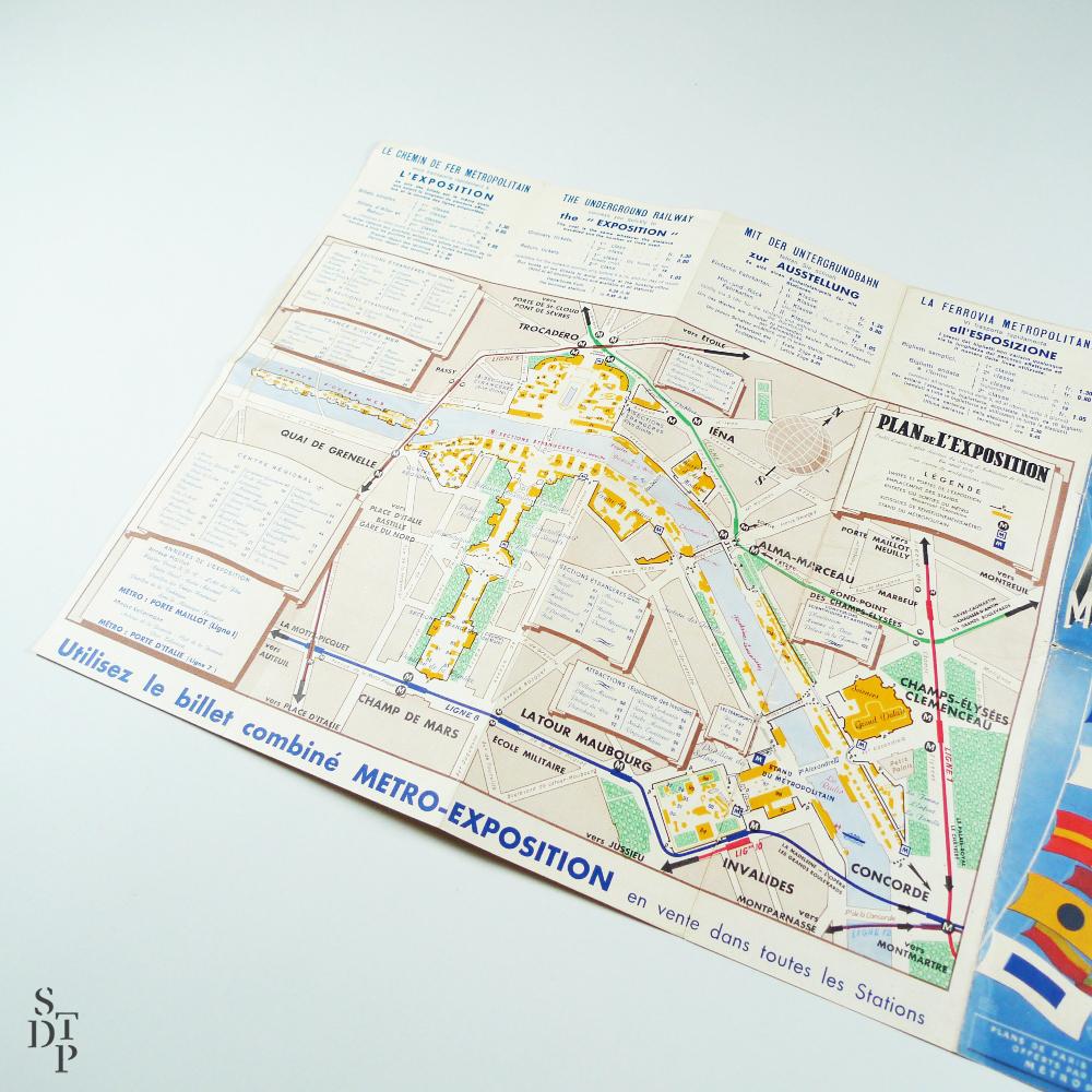 Metro Map For The International Exposition Souviens Toi De - Paris metropolitan map