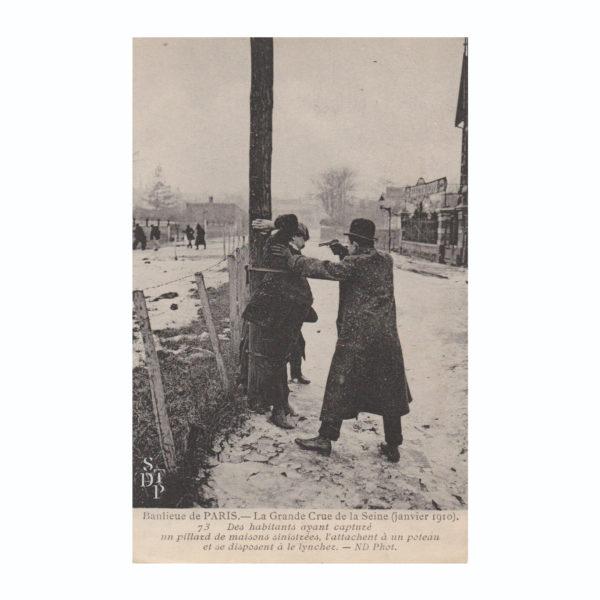 CPA Pillards crue de 1910 Souviens Toi De Paris vintage postcard vue 0