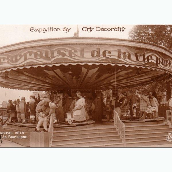 Carte Postale Ancienne Carrousel de la Vie Parisienne Souviens Toi De Paris vue 0