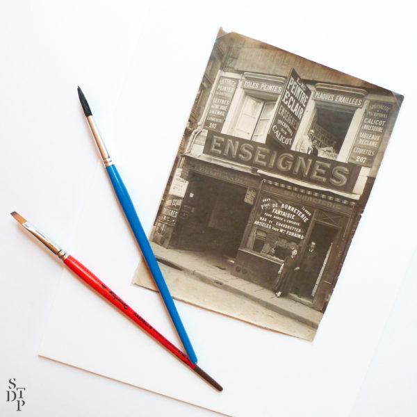 Le Peintre Eclair Enseignes vers 1910 rue Saint Martin STDP vue 2