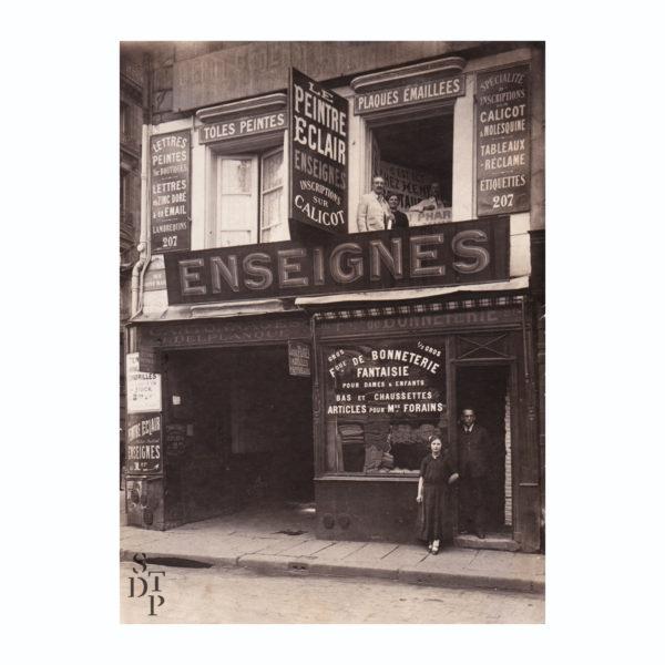 Paris vintage signpainter Le Peintre Eclair Enseignes vers 1910 rue Saint Martin STDP vue 0