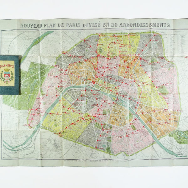 Plan de Paris ancien Emile Guérin circa 1914 STDP 1123 vue 0 stamp