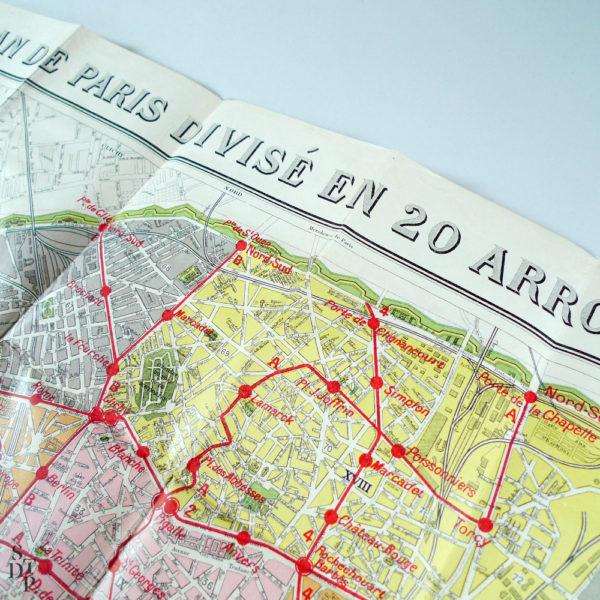 Plan de Paris ancien Emile Guérin STDP 1123 vue 2