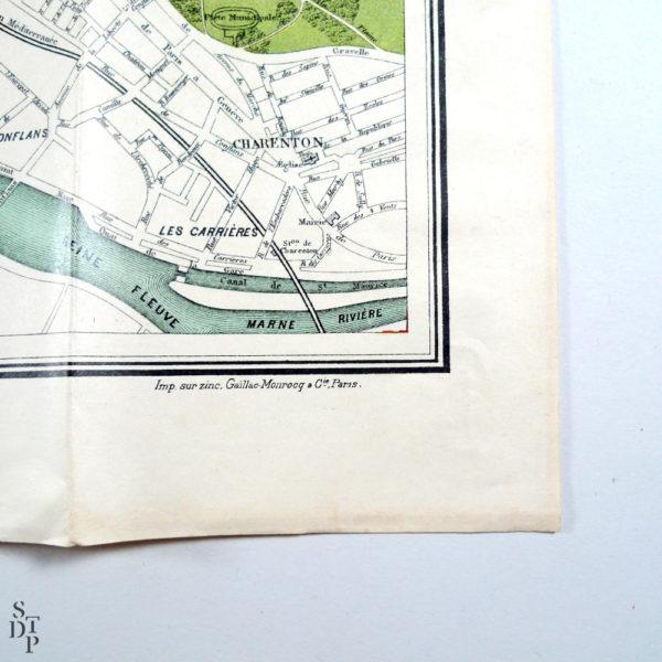 Plan de Paris ancien Emile Guérin Souviens Toi De Paris 1123 vue 3