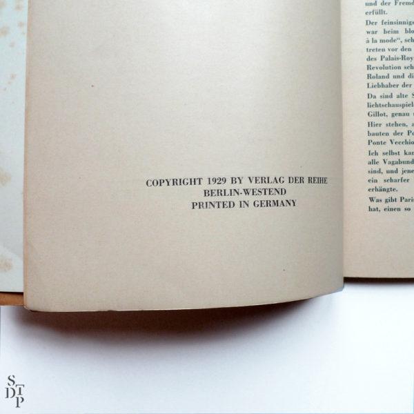100 x Paris de Germaine Krull - 1929 Souviens Toi De Paris vue 1 Livre ancien Paris vintage