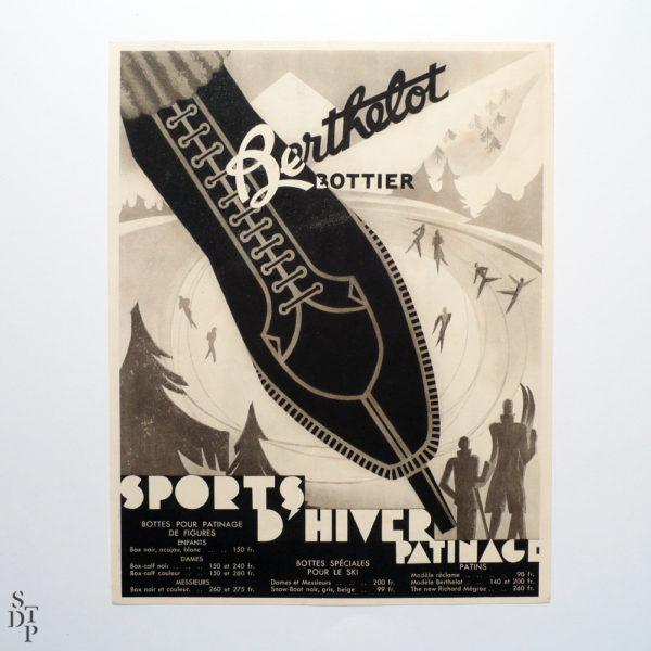Cet Hiver tout Paris à la Montagne publicité Berthelot litho Draeger circa 1930 Souviens Toi De Paris vue 2