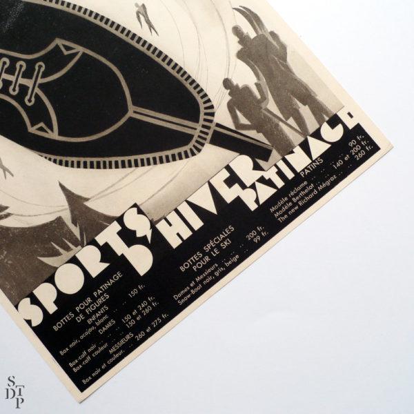 Cet Hiver tout Paris à la Montagne publicité Berthelot litho Draeger circa 1930 Souviens Toi De Paris vue 3