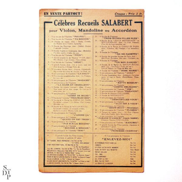 J'ai deux amours Partiton pf Joséphine Baker 1930 Souviens Toi De Paris vintage vue 3