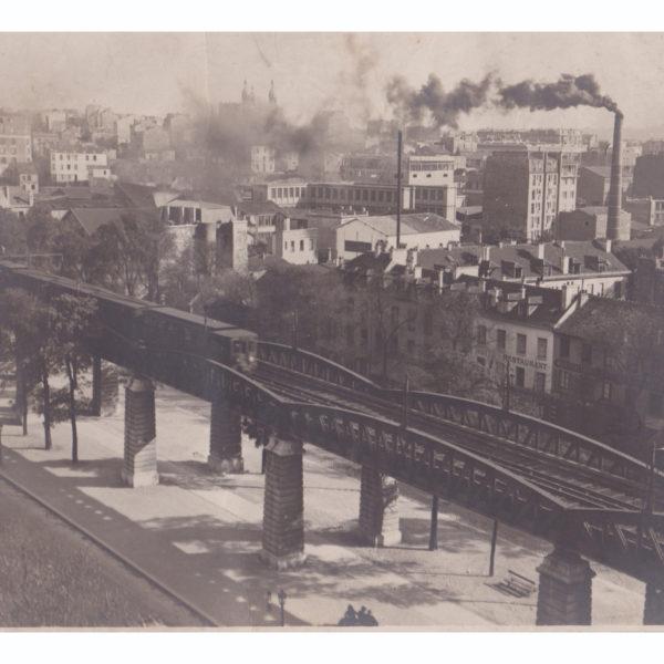 Métro aérien boulevard Auguste-Blanqui vers le 88 Circa 1920 Souviens Toi De Paris vue 0 photo ancienne