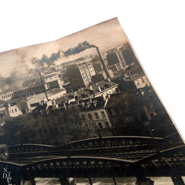 Métro aérien boulevard Auguste-Blanqui vers le 88 Circa 1920 Souviens Toi De Paris vue 1 photo ancienne