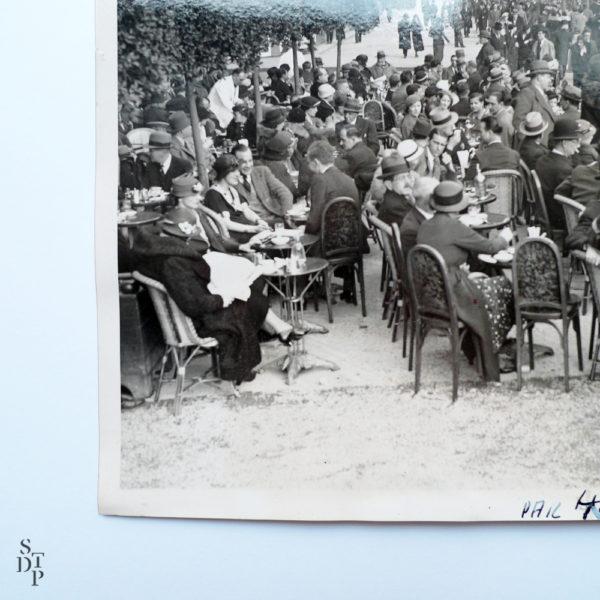 Photo ancienne le Select et sa terrasse les Champs-Élysées 1938 stamp 40 Souviens Toi De Paris vue 2