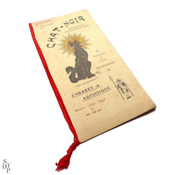Ancien programme du Caveau du Chat Noir 1914 vue 1 Souviens Toi De Paris Montmartre vintage