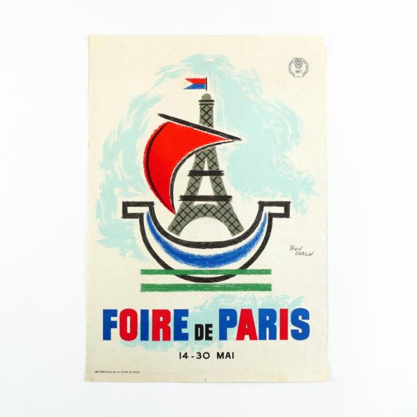 Affiche Jean Carlu Foire de Paris 1955 Souviens Toi De Paris vue 0 vintage french poster