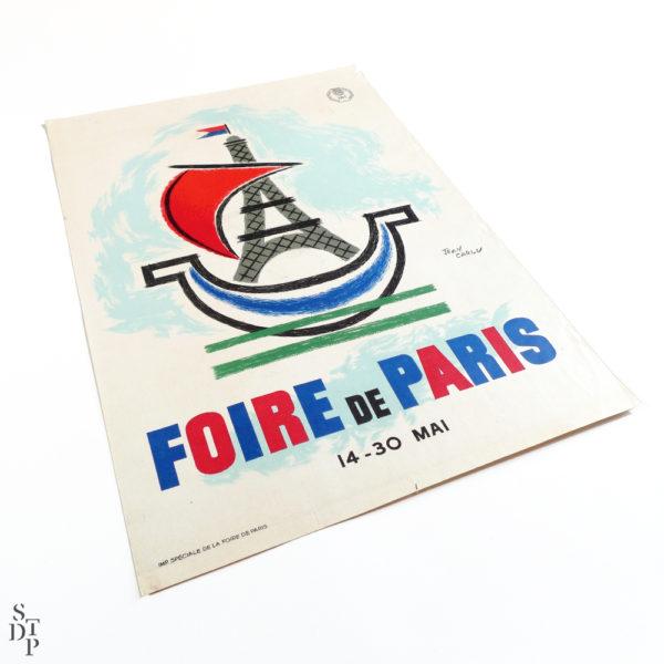 Affiche Jean Carlu Foire de Paris 1955 Souviens Toi De Paris vue 12 vintage french poster