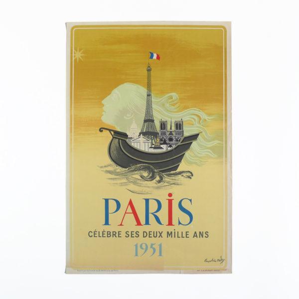 Affiche Paris célèbre ses deux mille ans Chapelain-Midy 1951 Souviens Toi De Paris vue 0 french vintage poster