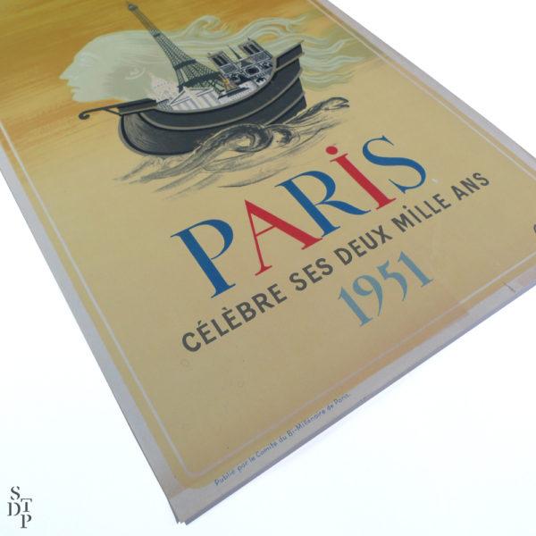 Affiche Paris célèbre ses deux mille ans Chapelain-Midy 1951 Souviens Toi De Paris vue 1 french vintage poster