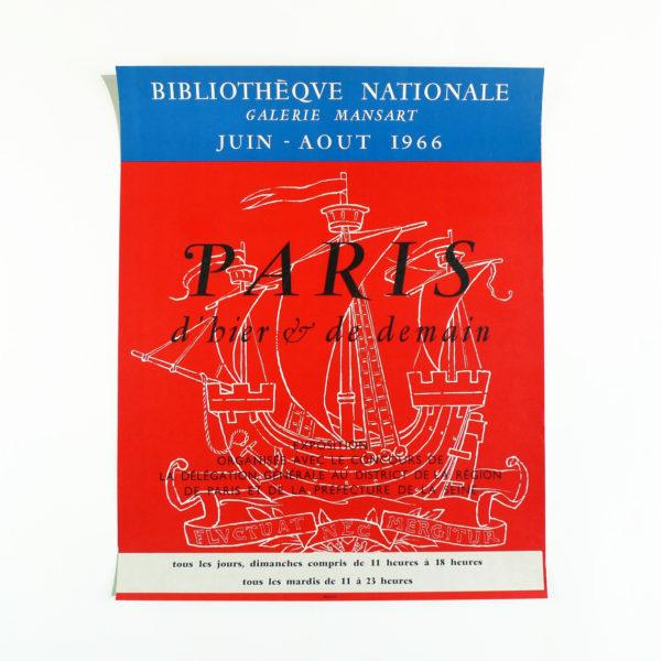 Affiche Paris d'hier et de demain Bibliothèque Nationale Mansart Mourlot 1966 vue 0 Souviens Toi De Paris french vintage poster