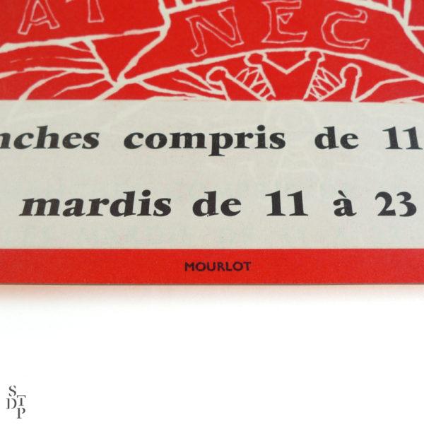 Affiche Paris d'hier et de demain Bibliothèque Nationale Mansart Mourlot 1966 vue 2 Souviens Toi De Paris vintage