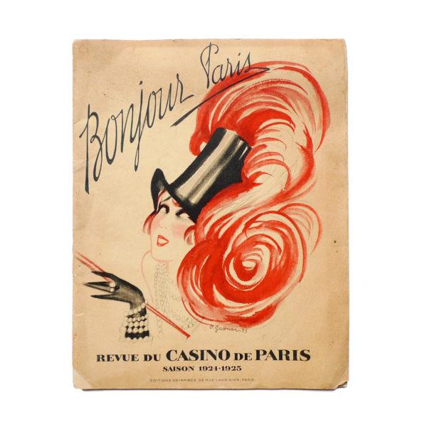 Bonjour Paris Mistinguett - Programme du Casino de Paris par C. Gesmar - 1925 Souviens Toi De Paris vue 0 Paris vintage illustration