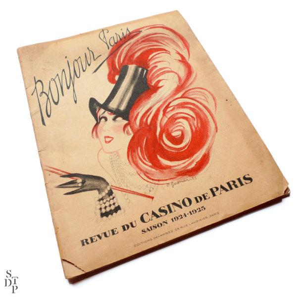 Bonjour Paris Mistinguett - Programme du Casino de Paris par C. Gesmar - 1925 Souviens Toi De Paris vue 1 Paris vintage