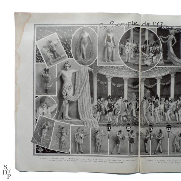 Bonjour Paris Mistinguett - Programme du Casino de Paris par C. Gesmar - 1925 Souviens Toi De Paris vue 4 Paris vintage